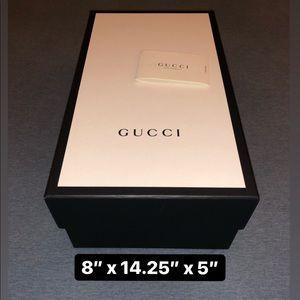 GUCCI Shoe Box & Care Pamphlet